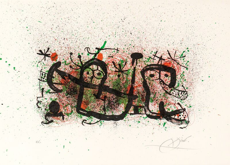 Joan Miró, 'Plate 5, from Ma de Proverbis', 1970, Print, Color lithograph on paper, Skinner
