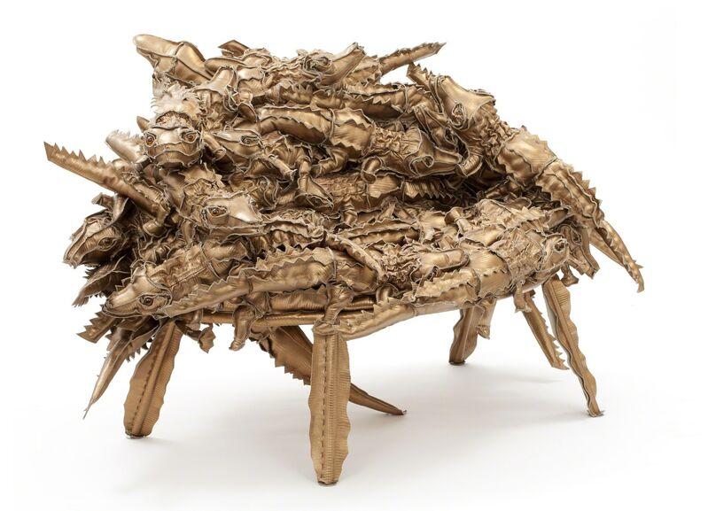 Humberto and Fernando Campana, 'Leather Alligator Banquete chair', 2011, Design/Decorative Art, Leather, Giustini/Stagetti Galleria O. Roma