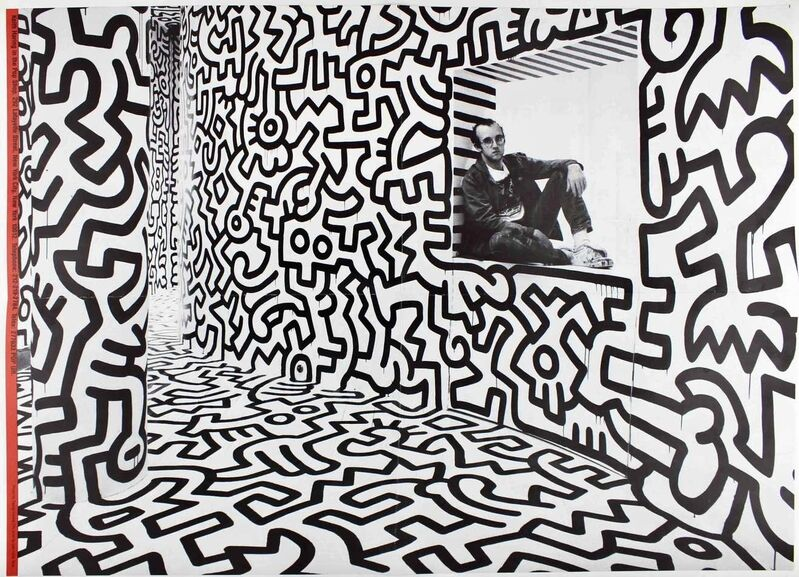 Keith Haring, 'Keith Haring Pop Shop poster (vintage Keith Haring posters)', 1989, Ephemera or Merchandise, Offset lithograph, Lot 180