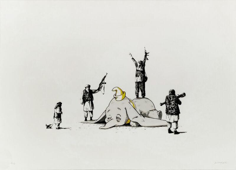 Banksy, 'DUMBO', 2014, Print, HANDFINISHED SCREENPRINT, Gallery Art