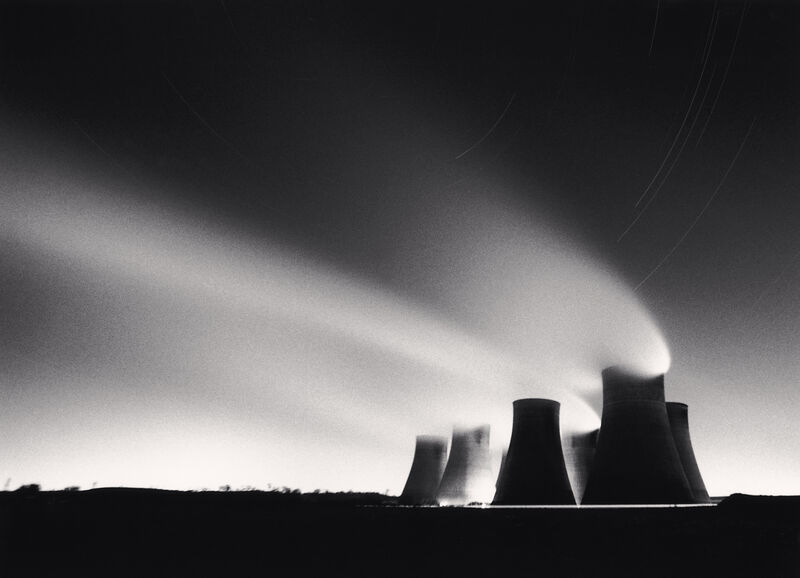 Michael Kenna, 'Ratcliffe Power Station, Study 26, Nottinghamshire, England, 1986', 1986, Photography, Sepia-toned silver gelatin print mounted to archival substrate, Bau-Xi Gallery