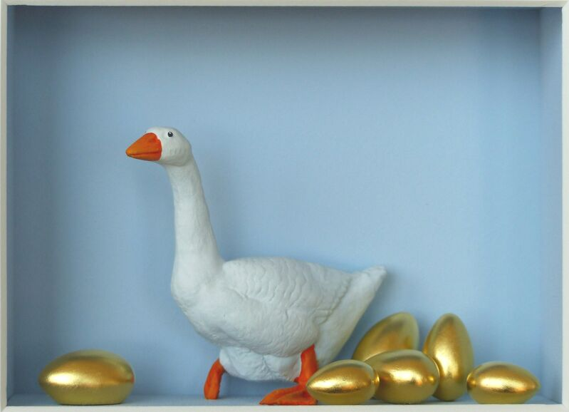 Volker Kühn, 'The Goose That Lays a Golden Egg ', Mixed Media, Mixed media, Plus One Gallery