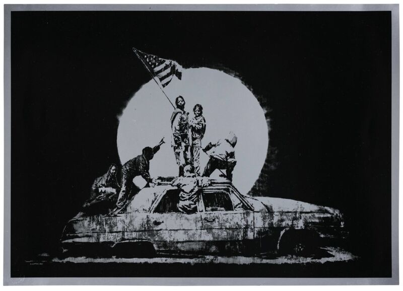 Banksy, 'Flag (Silver) - Unsigned', 2006, Print, Screen print on paper, Hang-Up Gallery