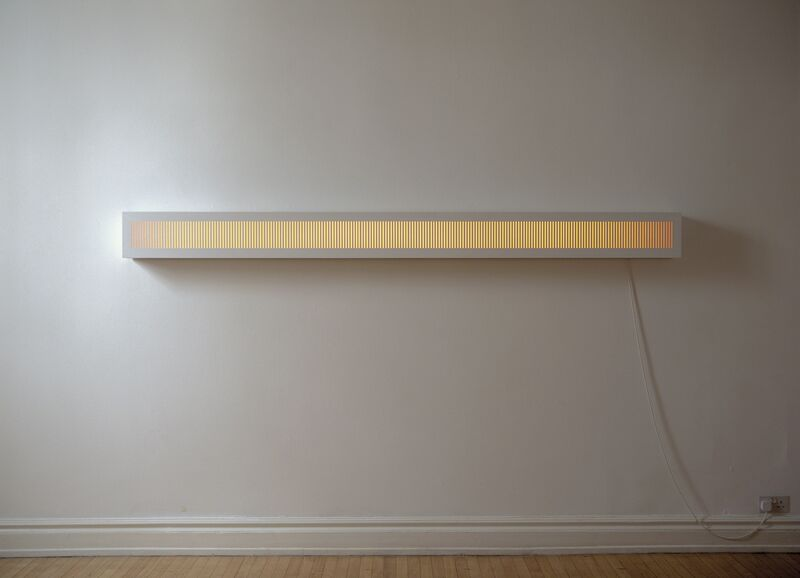 Adam Barker-Mill, 'GRATING 5', 1994, Installation, MDF painted white, Opal Perspex, Tungsten tube lights, dimmer switch, Bartha Contemporary