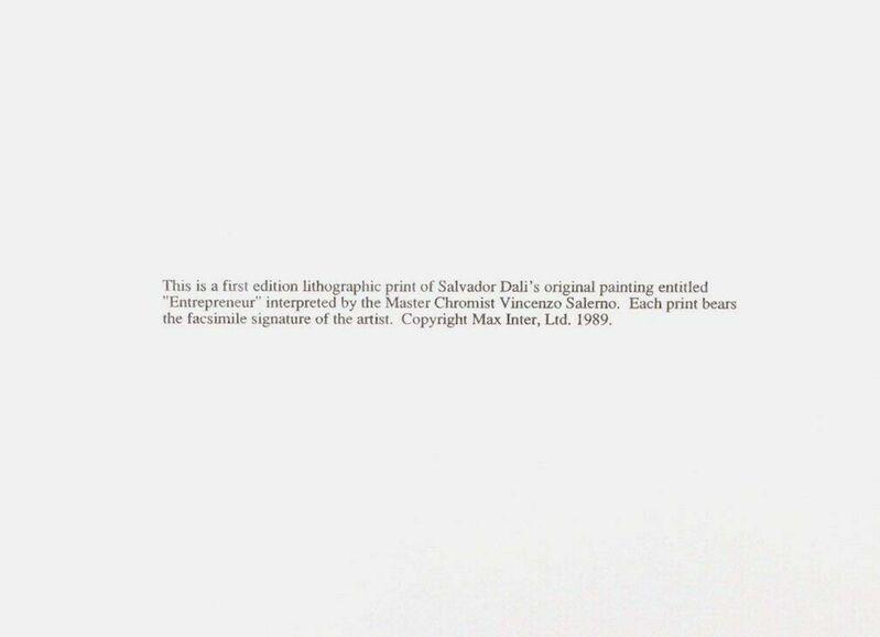 Salvador Dalí, 'The Entrepreneur', 1989, Print, Lithograph on heavyweight wove paper, Art Commerce