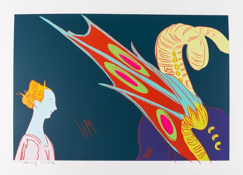Andy Warhol, 'Details of Rennaissance Paintings (Paolo Uccello St. George and the Dragon) (Feldman & Schellmann IIB.32)', 1984, Print, The unique screenprint in colours, Forum Auctions