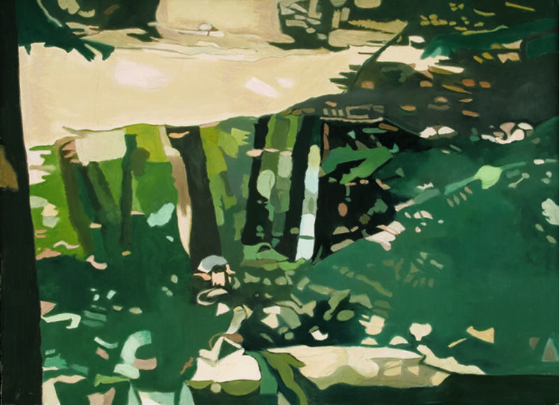 Ralph Wickiser, 'Green Reflections', 1995, Painting, Oil on linen, Walter Wickiser Gallery