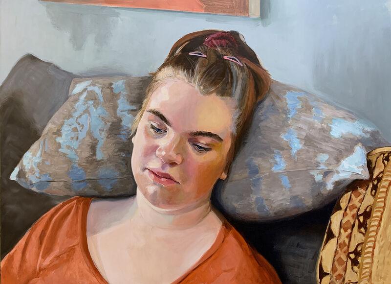 Ellen Starr Lyon, 'Bolster', 2021, Painting, Oil on panel, 33 Contemporary