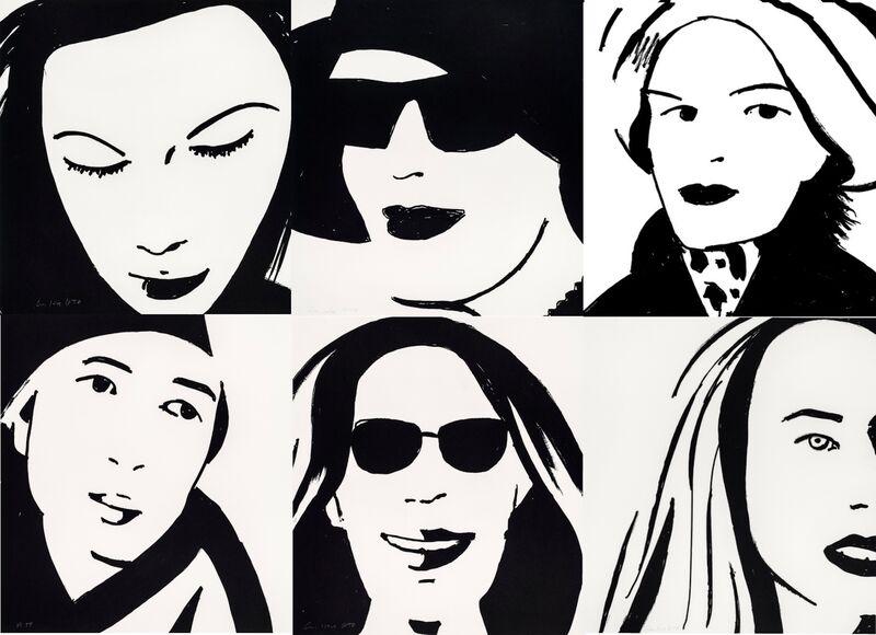 Alex Katz, 'Beauty Print Portfolio (Ulla, Sarah, Ada)', 2019, Print, Etching on Somerset Satin White 300 gsm, Frank Fluegel Gallery