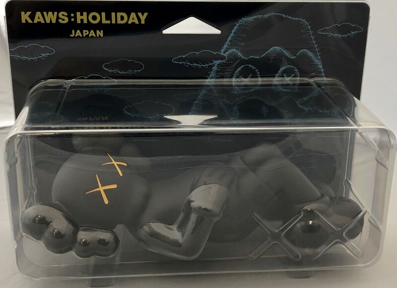 KAWS, 'KAWS Holiday Companion Japan (KAWS black Japan Holiday companion)', 2019, Sculpture, Vinyl Paint, Cast Resin, Lot 180