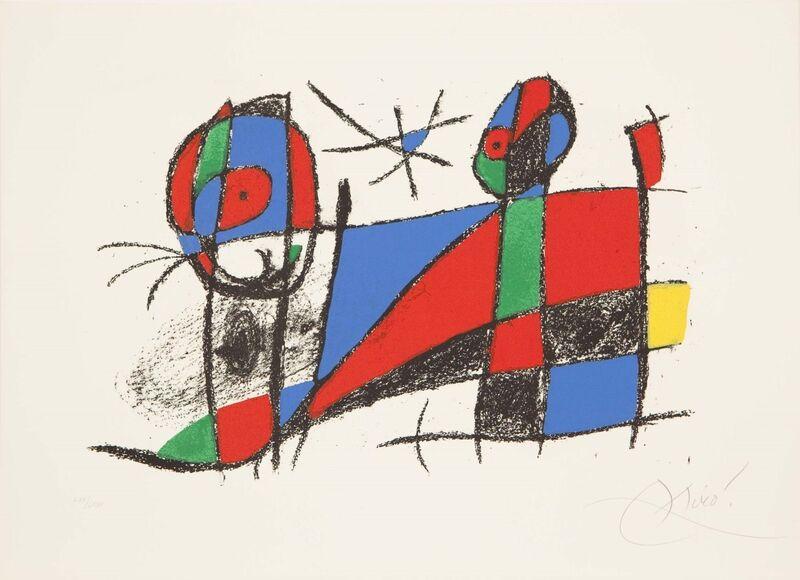 Joan Miró, 'LITOGRAFO II N. 1042', 1975, Print, Coloured lithograph, Studio Guastalla