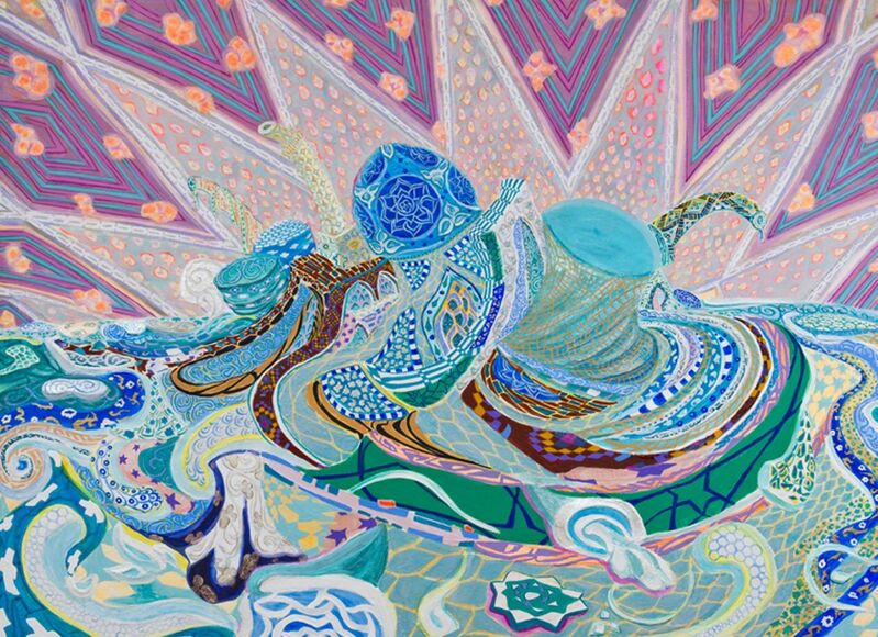 Negar Ahkami, 'Retroactive Autorretrato', 2013, Painting, Gesso, acrylic and glitter on canvas stretched on panel  , Leila Heller Gallery