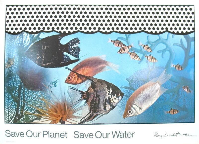 Roy Lichtenstein, 'Save Our Planet - Save Our Water', 1968, Ephemera or Merchandise, Serigraph, ArtWise
