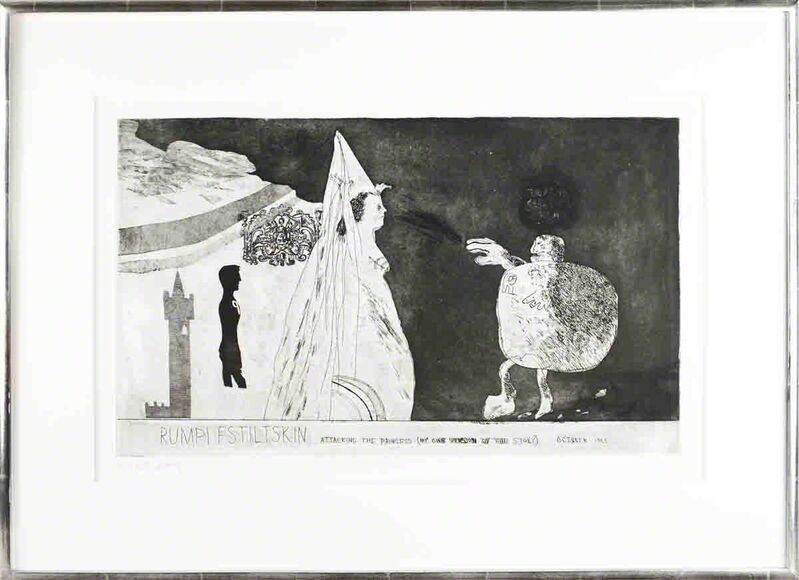 David Hockney, 'Rumpelstiltskin', 1962, Print, Etching, ArtWise