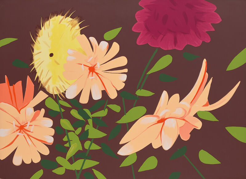 Alex Katz, 'Late Summer Flowers', 2013, Print, Screenprint in colours, on 4-ply Museum Board, the full sheet., Phillips