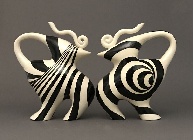 Sooyeon Kim, 'Untitled (teapots)', 2019, Sculpture, Handbuilt porcelaine, Maria Elena Kravetz