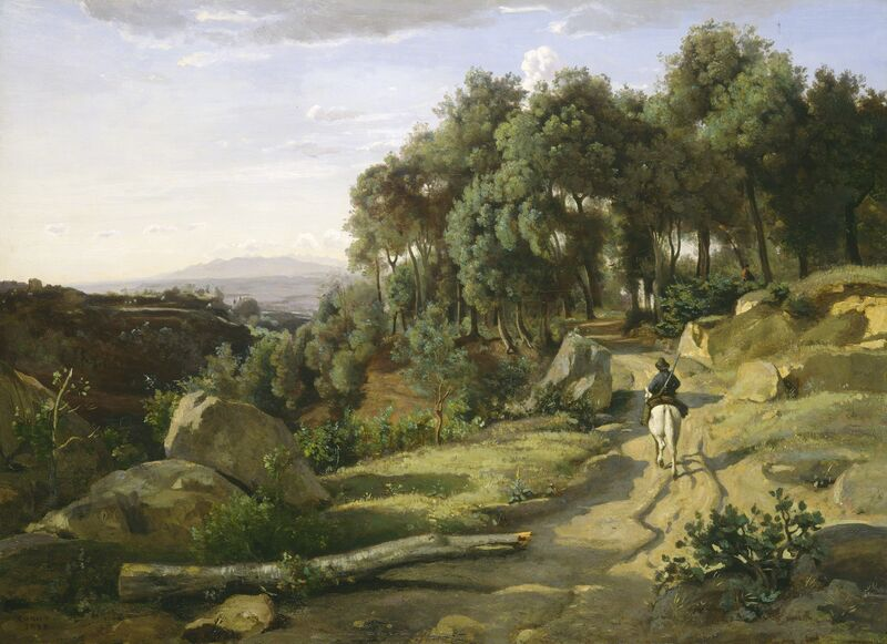 Jean-Baptiste-Camille Corot, 'A View near Volterra', 1838, Painting, Oil on canvas, National Gallery of Art, Washington, D.C.