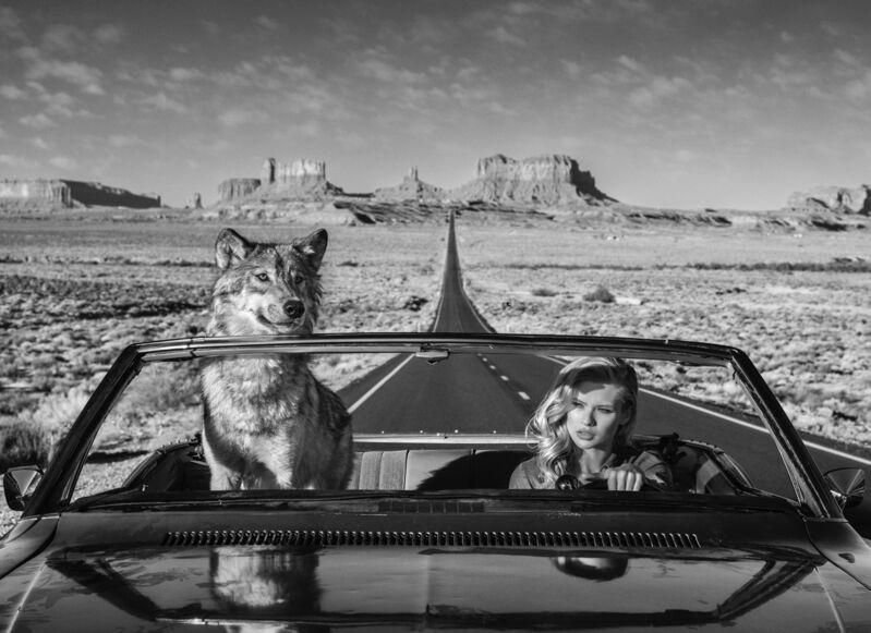 David Yarrow, 'Road Trip', 2018, Photography, Digital Pigment Print on Archival 315gsm Hahnemuhle Photo Rag Baryta Paper, Samuel Owen Gallery