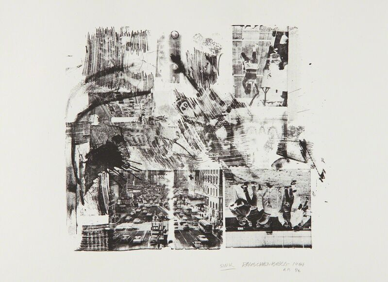 Robert Rauschenberg, 'Sink', 1964, Print, Lithograph, on Rives BFK paper, with full margins, Phillips