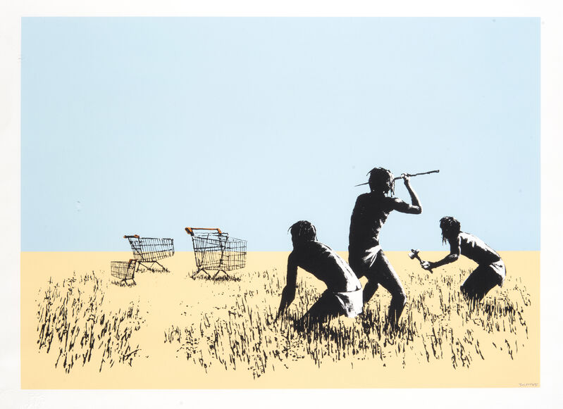 Banksy, 'Trolley Hunters (Bethlehem Edition)', 2007, Print, Screen print in colours on wove paper, Tate Ward Auctions