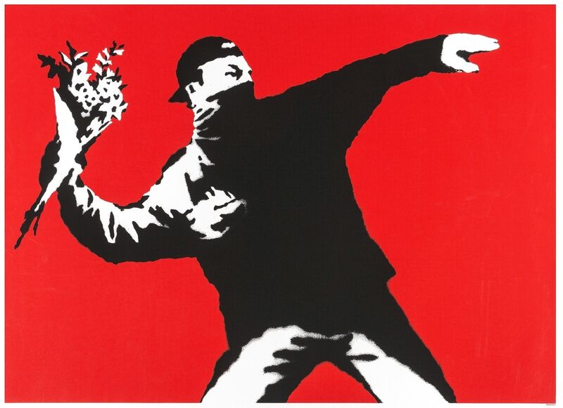 Banksy, 'Love is in the Air (Flower Thrower)', 2003, Print, Screenprint in colours, Forum Auctions