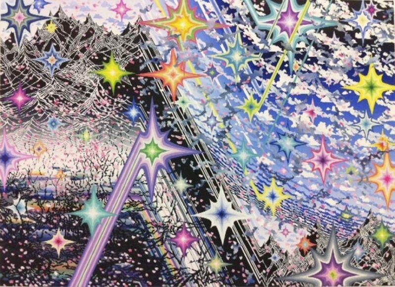 Akira Kamo, 'Plutonium and Sakura Storm', 2011, Painting, Acrylic and oil on canvas, Japigozzi Collection