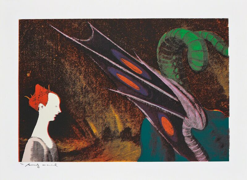Andy Warhol, 'Paolo Uccello, St. George and the Dragon, 1460, from Details of Renaissance Paintings', 1984, Print, Screenprint in colours, on Arches Aquarelle (Cold Pressed) paper, with full margins., Phillips