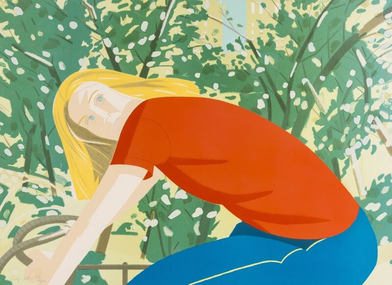 Alex Katz, 'Bicycle Rider (Schröder)', 1982, Print, Lithograph printed in colours, Forum Auctions