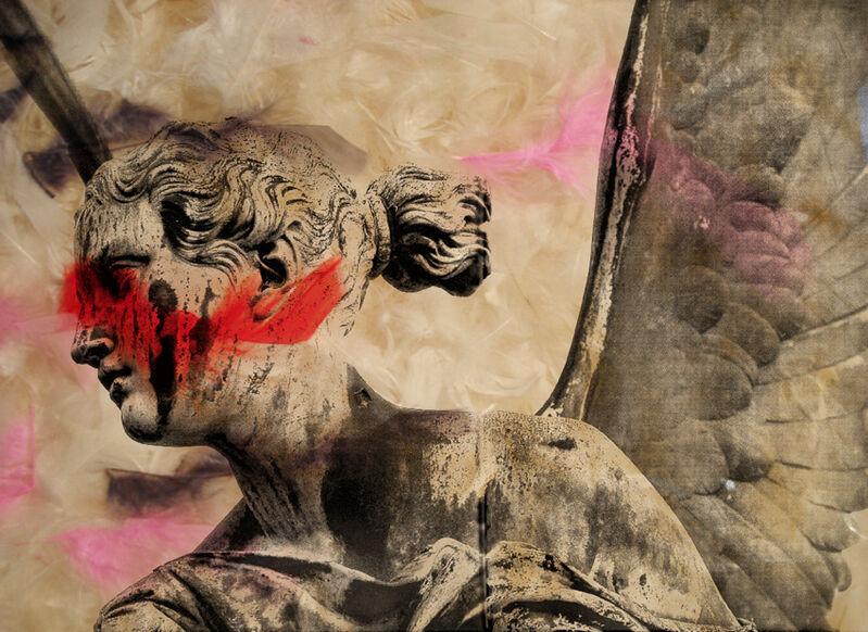 Daniel Gastaud, 'Angel Smarts ', 2011, Mixed Media, Feathers under Plexi, Eden Fine Art
