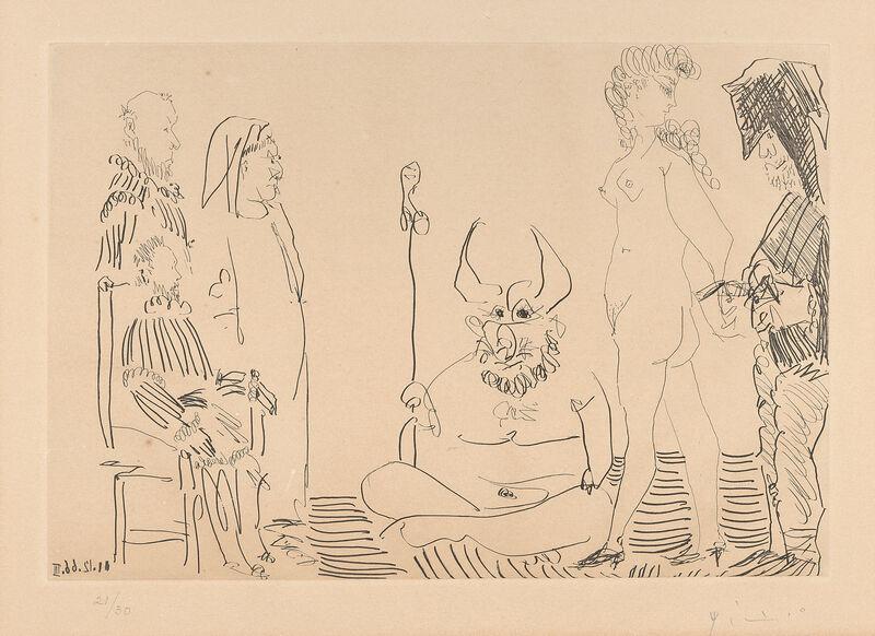 Pablo Picasso, 'Le Cocu Magnifique', 1966, Print, Etching and aquatint, Il Ponte