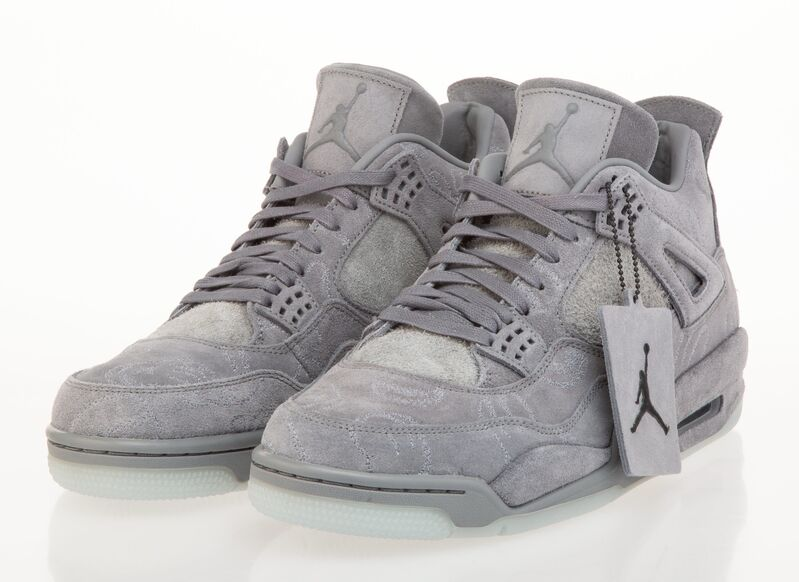 KAWS, 'Air Jordan 4 Retro (Grey)', 2017, Fashion Design and Wearable Art, Pair of sneakers, with cloth bag, Heritage Auctions