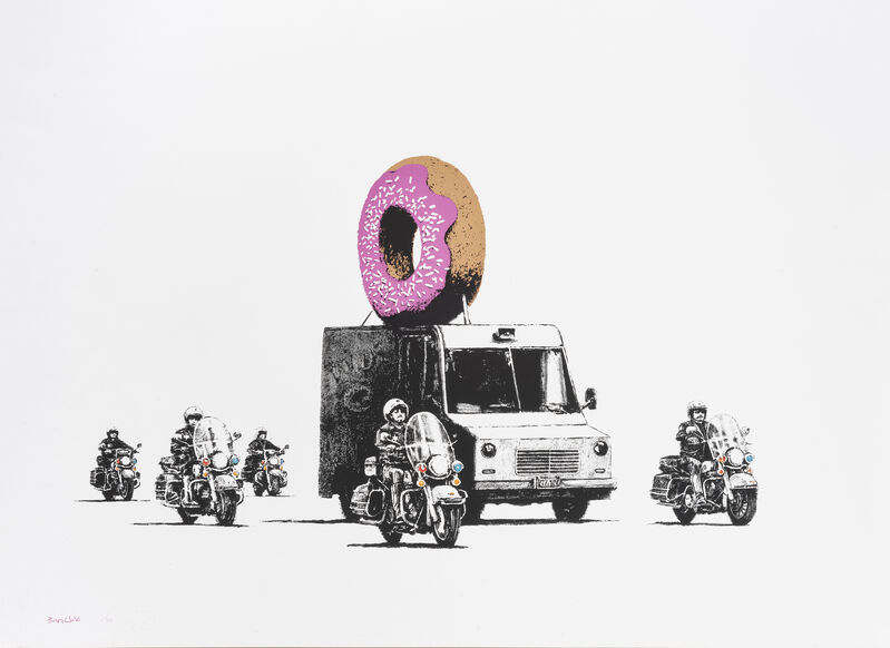 Banksy, 'Donuts (Strawberry)', 2009, Print, Screenprint in colours on Arches 88 paper, Tate Ward Auctions