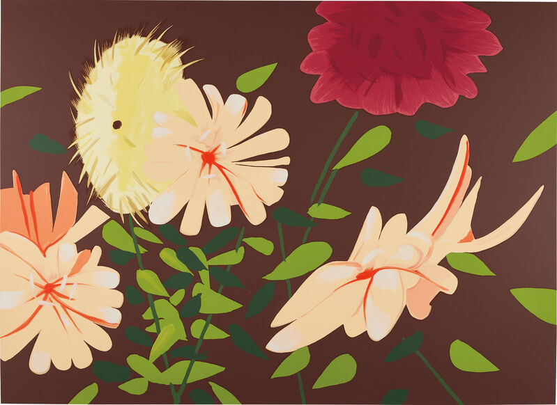Alex Katz, 'Late Summer Flowers', 2013, Print, Screenprint in colors, on 4-ply Museum Board, the full sheet., Phillips