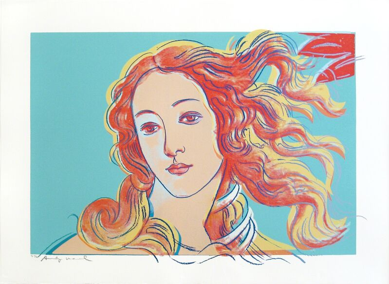 Andy Warhol, 'Details of Renaissance Paintings (Sandro Botticelli, Birth of Venus- 1482)', 1984, Drawing, Collage or other Work on Paper, Nique screenprint on Aquarelle Cold Pressed paper, Woodward Gallery