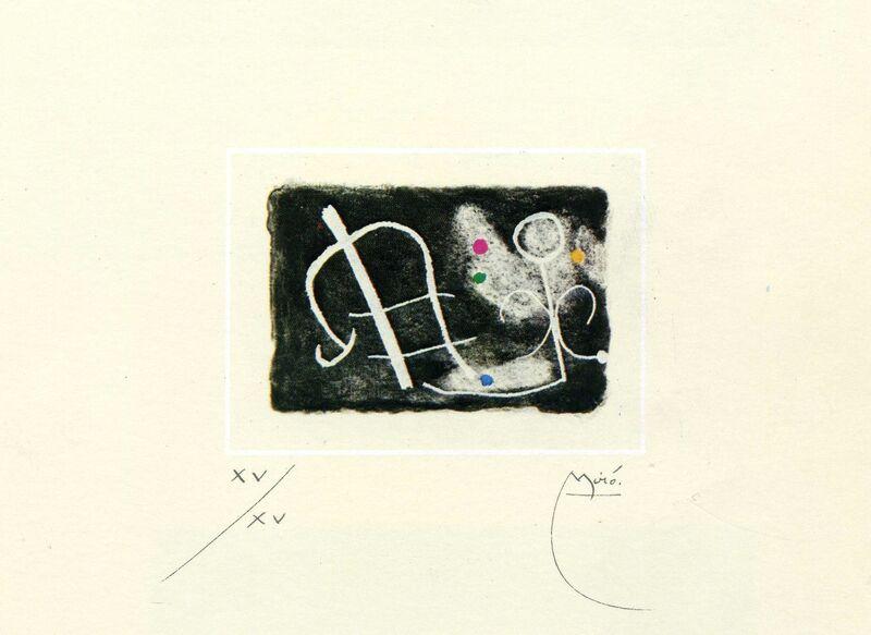 Joan Miró, 'Fusees Nous Avons', 1959, Print, Etching, aquatint, washi paper, Galeria Joan Gaspar