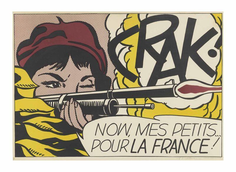 Roy Lichtenstein, 'CRAK!', 1963/64, Print, Offset lithograph on wove paper, Taglialatella Galleries