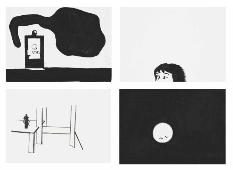Wilhelm Sasnal, 'Untitled', 2002, Drawing, Collage or other Work on Paper, Gouache,ink and graphite on paper, Galeria Filomena Soares