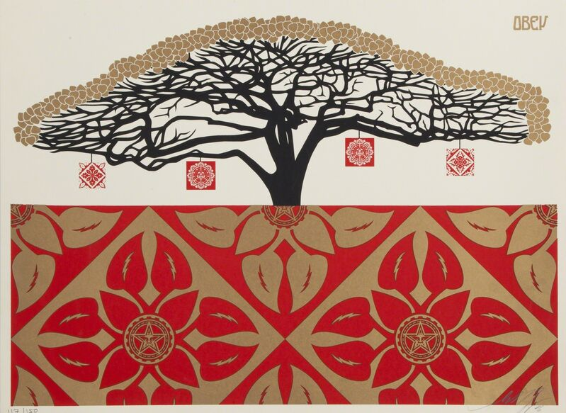 Shepard Fairey, 'Monkey Pod Tree', 2006, Print, Screenprint on paper, Julien's Auctions