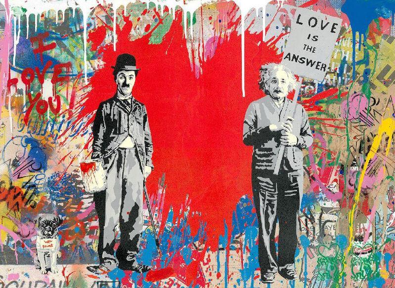 Mr. Brainwash, 'Juxtapose', 2020, Painting, Silkscreen and Mixed Media on Paper, Maddox Gallery