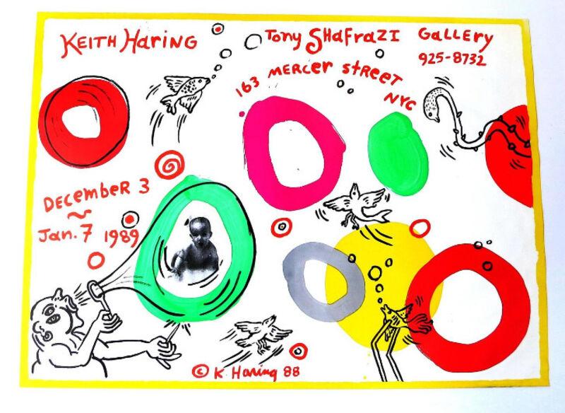Keith Haring, 'Exhibition Announcement Poster, 1988, Tony Shafrazi Gallery NYC', 1988, Ephemera or Merchandise, Offset Lithograph, VINCE fine arts/ephemera