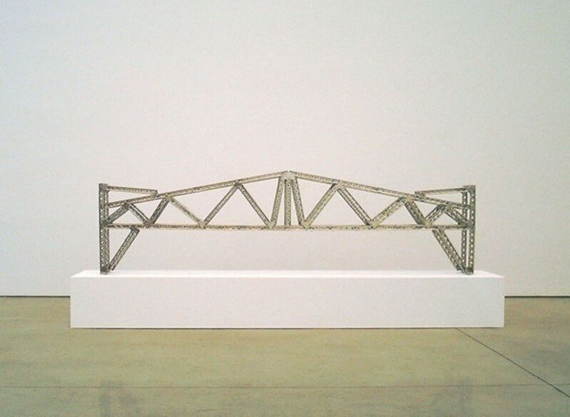 Chris Burden, 'Antique Bridge', 2003, Sculpture, Stainless Steel Reproduction Mysto Type I Erector parts, Gagosian