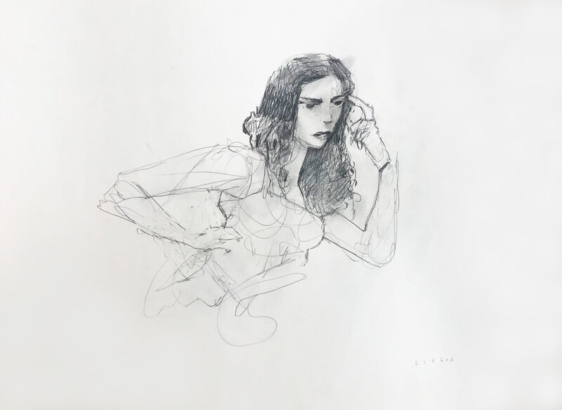 Anthony Lister, 'Girl 1', 2020, Drawing, Collage or other Work on Paper, Lead on Archival Museum Paper, StolenSpace Gallery