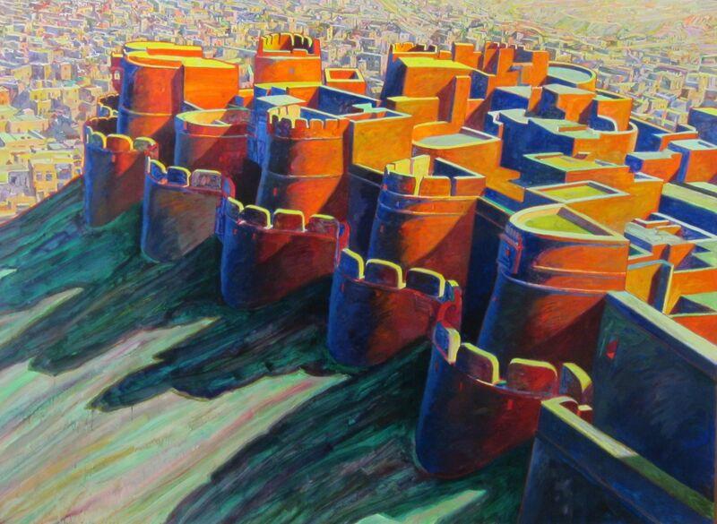 Bill Kohn, 'Jaisalmer Fortress', 1999, Painting, Acrylic on canvas, Bruno David Gallery