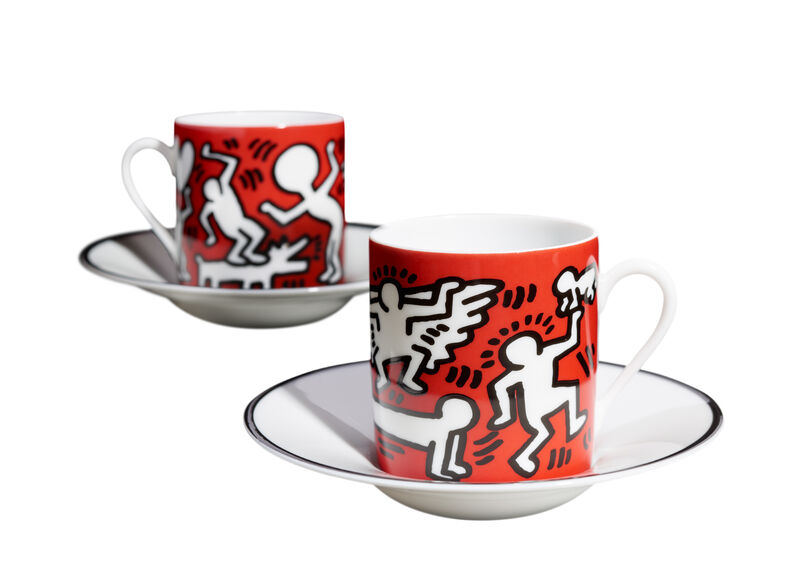Keith Haring, 'Keith Haring White on Red Espresso Set', 2019, Reproduction, Limoges porcelain, A.Style