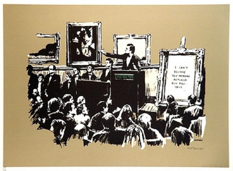 Banksy, 'Morons Sepia', 2007, Print, Screen print, Leonards Art