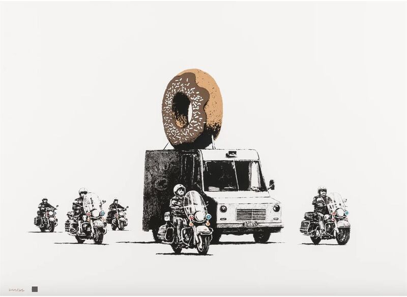 Banksy, 'Donuts (Chocolate)', 2009, Print, Screenprint in colours on arches 88 Paper., HOFA Gallery (House of Fine Art)