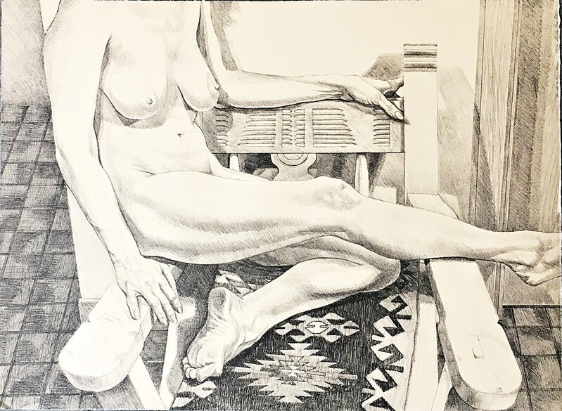 Philip Pearlstein, 'New Mexico Nude ', 1984, Print, Lithograph (Signed,Titled,Dated,Numbered) - unframed, Alpha 137 Gallery