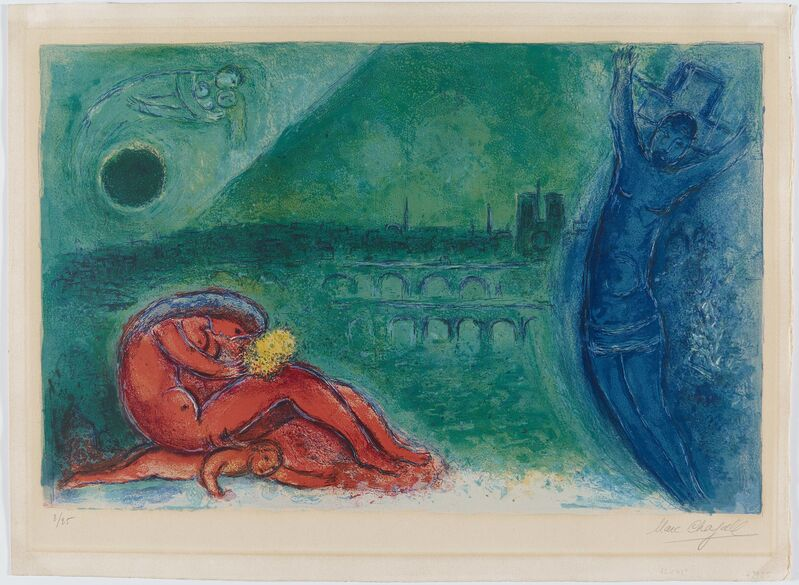 Marc Chagall, 'Quai de la Tournelle', 1960, Print, Colour lithograph on Arches (watermark), Van Ham