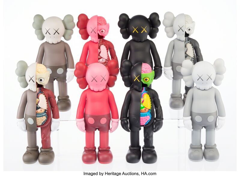 KAWS, 'KAWS Companion (Open Edition) (set of eight)', 2016, Other, Painted cast vinyl, Heritage Auctions