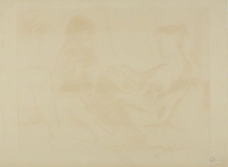 Pablo Picasso, 'Maison close: Le Chocolat I (Ba. 921)', 1955, Print, Sugar-lift aquatint, etching, engraving and scraper, Sotheby's